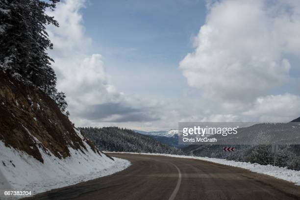 A general view of the road on April 11 2017 outside Sivas Turkey Campaigning by both the 'Evet' and 'Hayir' camps has intensified across the country...