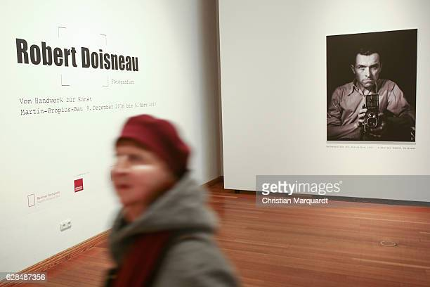 A general view of the 'Robert Doisneau Fotografien' press conference and exhibition preview at Martin Gropius Bau on December 8 2016 in Berlin...