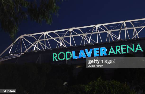 A general view of the Rod Laver Arena during day three of the 2011 Australian Open at Melbourne Park on January 19 2011 in Melbourne Australia