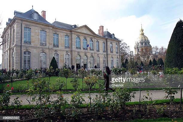 A general view of the Rodin Museum on November 12 2015 in Paris France After a complete restoration over the past three years the Hotel Biron home of...