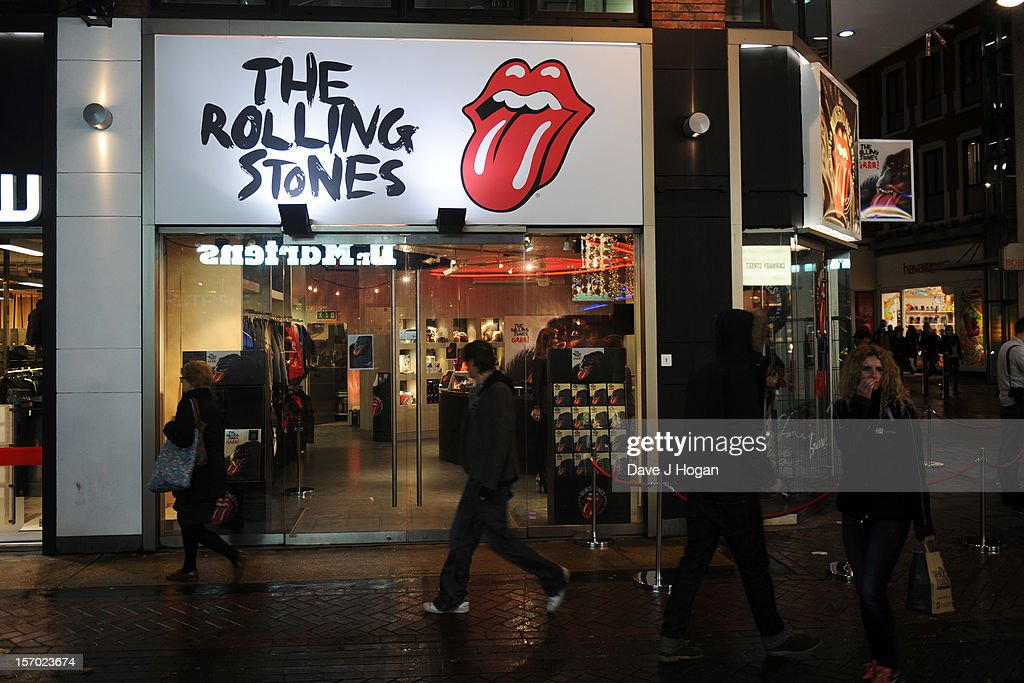 A general view of the Rolling Stones pop up shop on Caranaby Street on November 27, 2012 in London, England.