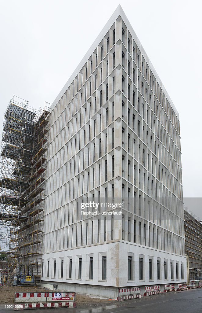 A general view of the roofing ceremony for the new Federal Ministry for the Interior building on May 22, 2013 in Berlin, Germany.