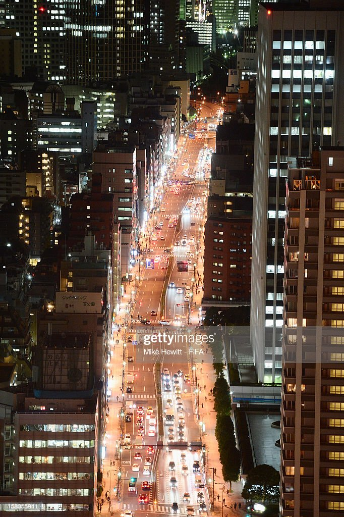A general view of the Roppongi district ahead of the FIFA Club World Cup on December 10, 2012 in Tokyo, Japan.