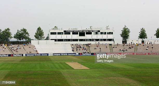 General view of the Rosebowl during the Liverpool Victoria County Championship Division One match between Hampshire and Yorkshire at the Rosebowl on...