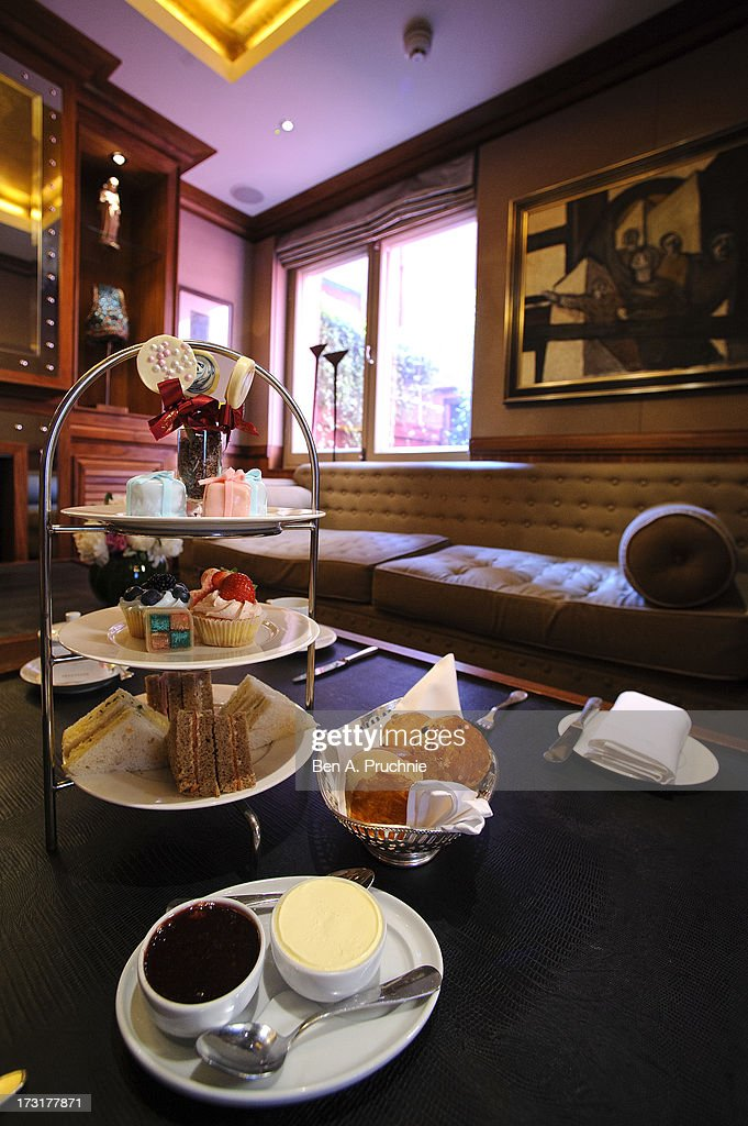 A general view of the royal baby inspired baby shower afternoon tea at the St James Hotel, as the UK prepares for the birth of the first child of The Duke and Duchess of Cambridge at on July 9, 2013 in London, England.