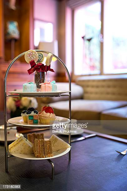 A general view of the royal baby inspired baby shower afternoon tea at the St James Hotel as the UK prepares for the birth of the first child of The...