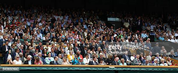 A general view of The Royal Box as Angelique Kerber of Germany faces Serena Williams of The United States in The Ladies Singles Final on day twelve...