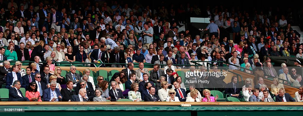A general view of the royal box on day four of the Wimbledon Lawn Tennis Championships at the All England Lawn Tennis and Croquet Club on June 30, 2016 in London, England.
