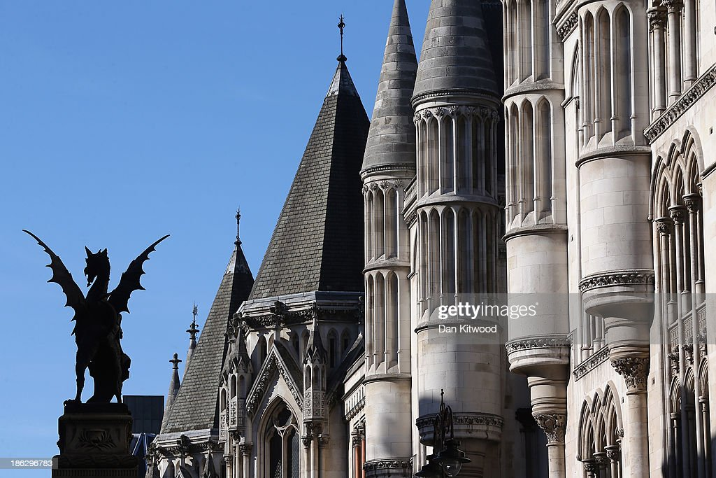 A general view of The Royal Courts of Justice on October 30 2013 in London England The publishers of UK newspapers and magazines are at the High...