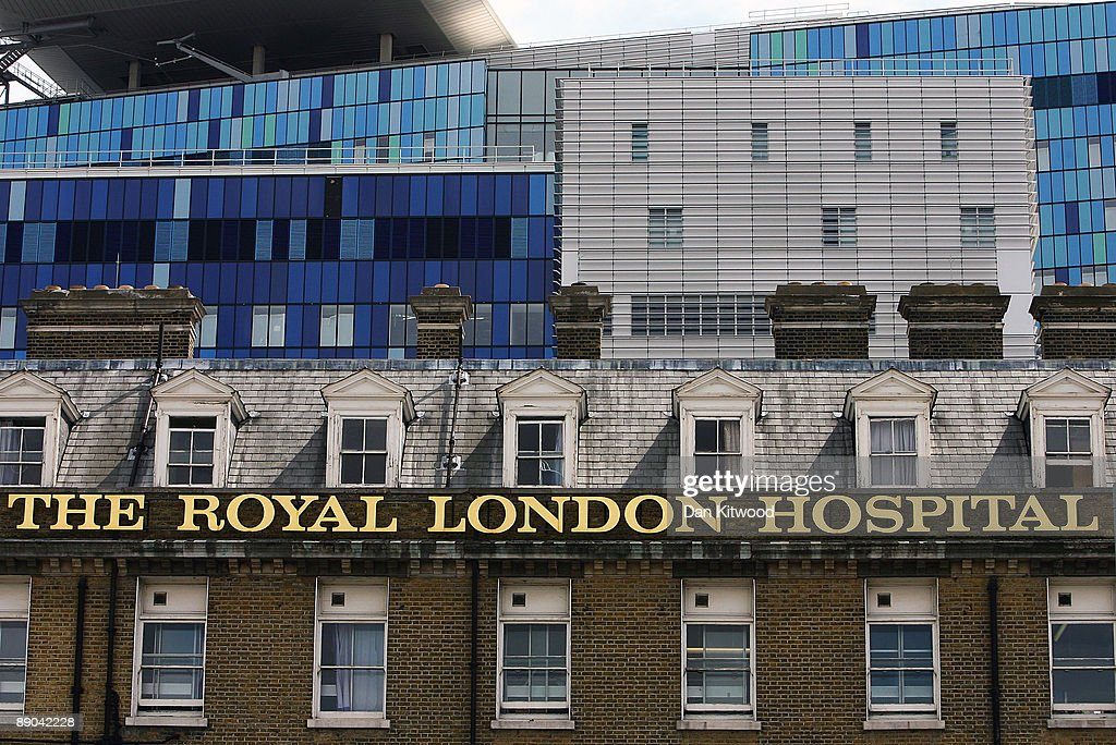 A general view of The Royal London Hospital in Whitechapel on July 15 2009 in London England