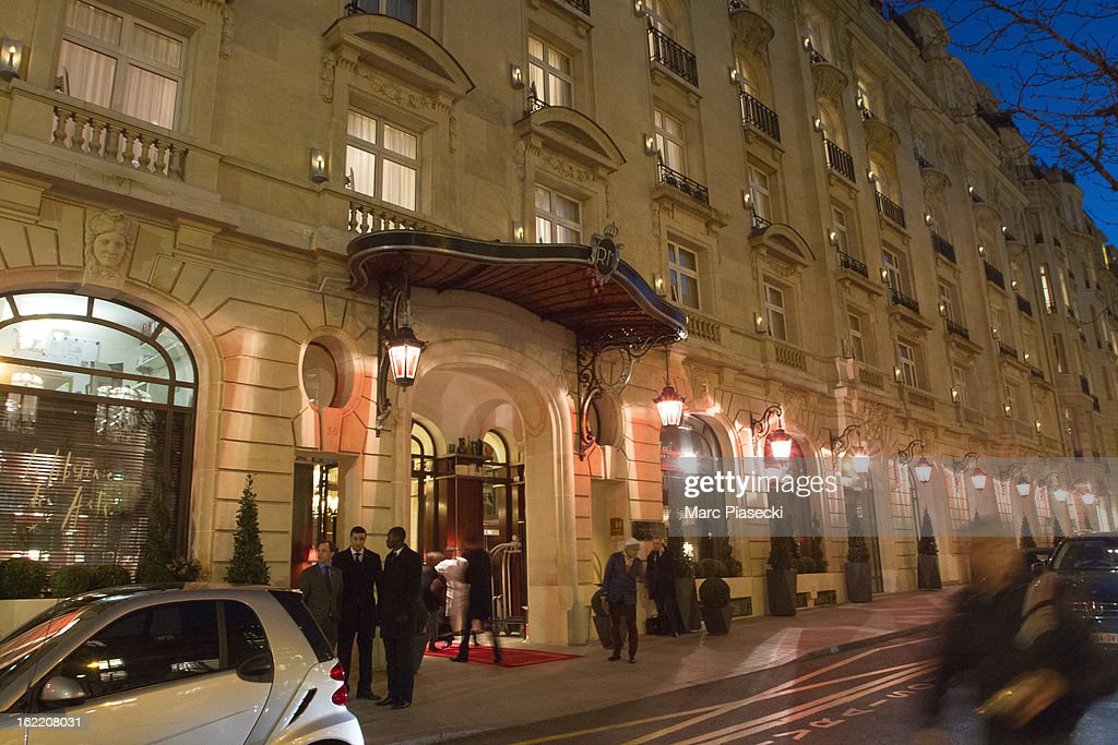 A general view of the 'Royal Monceau' hotel after a birthday dinner for Cruz David Beckham on February 20, 2013 in Paris, France.