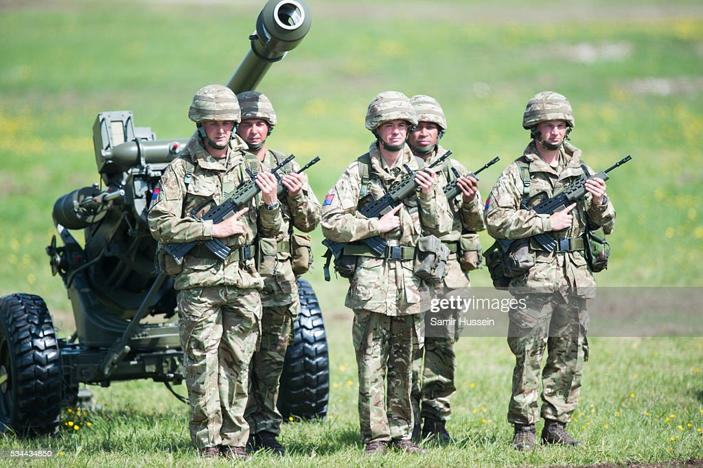 A general view of the Royal Review of The Royal Artillery on the occasion of their Tercentenary at Knighton Down on May 26, 2016 in Lark Hill, England.
