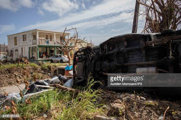 A general view of the rubbles in the Orleans neighborhood ten days after the passage of hurricane Irma on September 15 2017 in Saint Martin French...