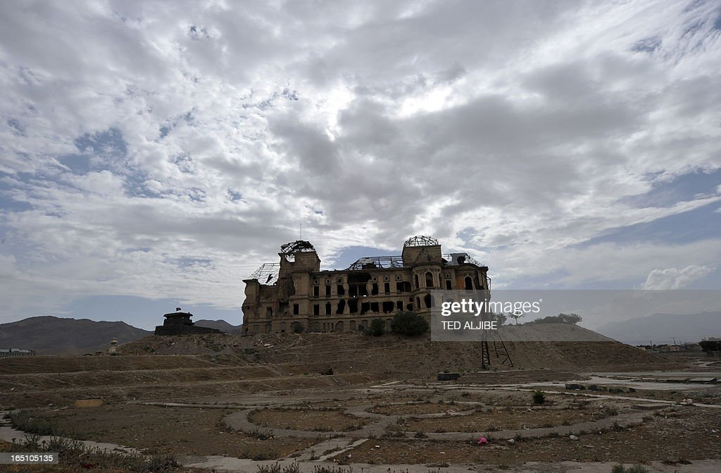 A general view of the ruins of Darulaman palace, the former residence of Afghan King Amanullah who reigned from 1920 to 1929, in Kabul on June 12, 2011. From a position of lonely authority, President Barack Obama faces wrenching political and even moral dilemmas as he plots a troop drawdown in Afghanistan due to begin next month. AFP PHOTO/TED ALJIBE