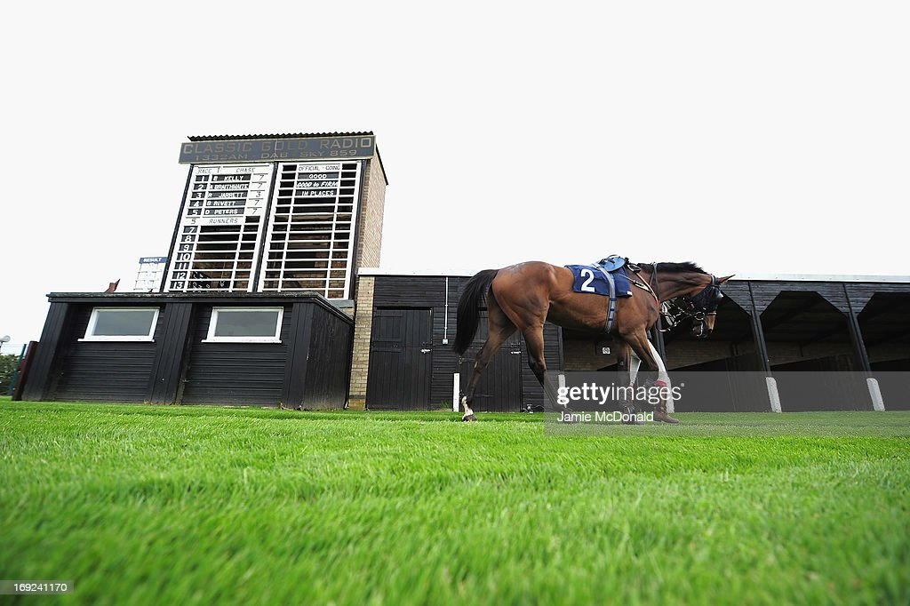 A general view of the runners board during racing at Huntingdon race course on May 22, 2013 in Huntingdon, England.