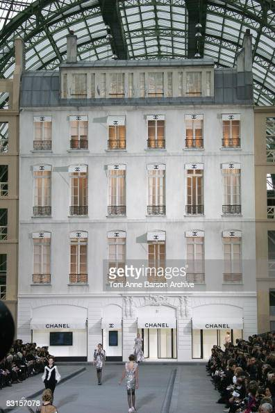 General view of the runway at the Chanel fashion show during Paris Fashion at Grand Palais on October 3 2008 in Paris France