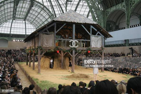 General view of the runway at the Chanel Pret a Porter show as part of the Paris Womenswear Fashion Week Spring/Summer 2010 at the Grand Palais on...