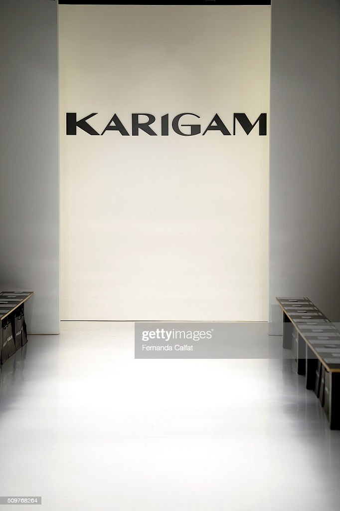 A general view of the runway before Karigam Fall 2016 during New York Fashion Week: The Shows at The Space, Skylight at Clarkson Sq on February 12, 2016 in New York City.