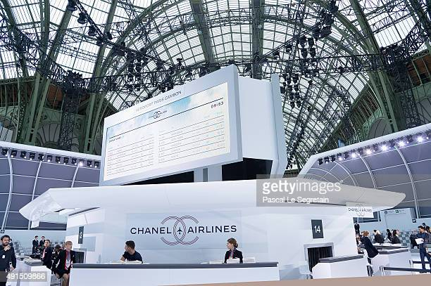 General view of the runway during the Chanel show as part of the Paris Fashion Week Womenswear Spring/Summer 2016 on October 6 2015 in Paris France
