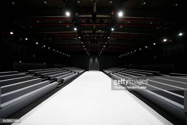 A general view of the runway during the MercedesBenz Fashion Week Berlin Spring/Summer 2017 at Erika Hess Eisstadion on June 28 2016 in Berlin Germany