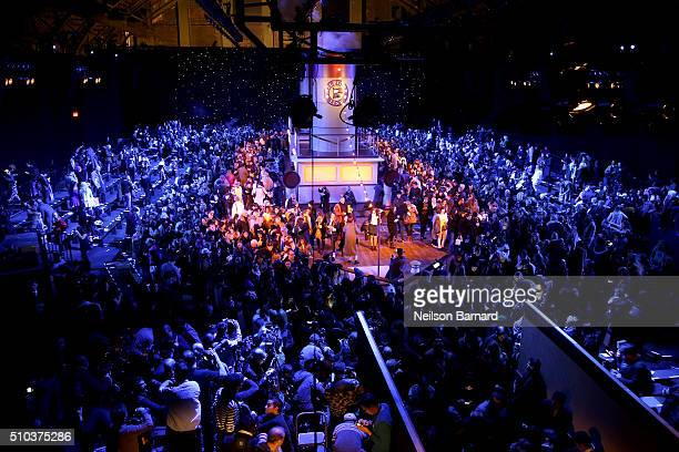 A general view of the runway set at the Tommy Hilfiger Women's Fall 2016 show during New York Fashion Week The Shows at Park Avenue Armory on...
