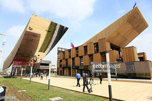 General view of the Russian Federation pavilion during the Milano EXPO 2015 at Fiera Milano Rho on May 2 2015 in Milan Italy