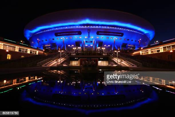 A general view of the Saint Petersburg Stadium following the FIFA Confederations Cup Russia 2017 Final match between Chile and Germany at Saint...