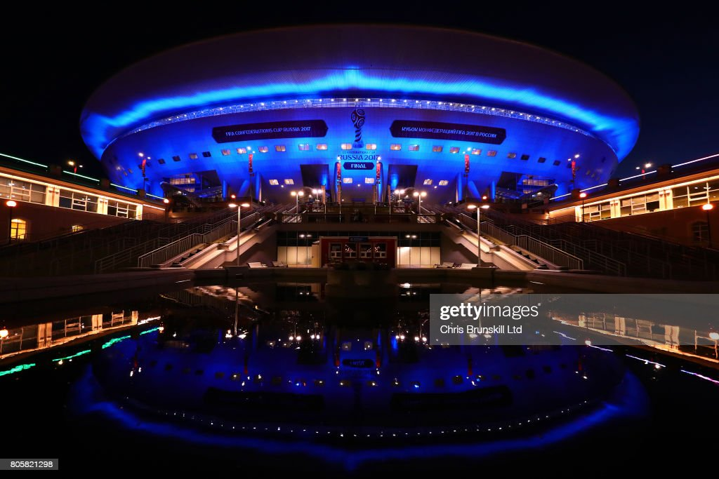 A general view of the Saint Petersburg Stadium following the FIFA Confederations Cup Russia 2017 Final match between Chile and Germany at Saint Petersburg Stadium on July 2, 2017 in Saint Petersburg, Russia.