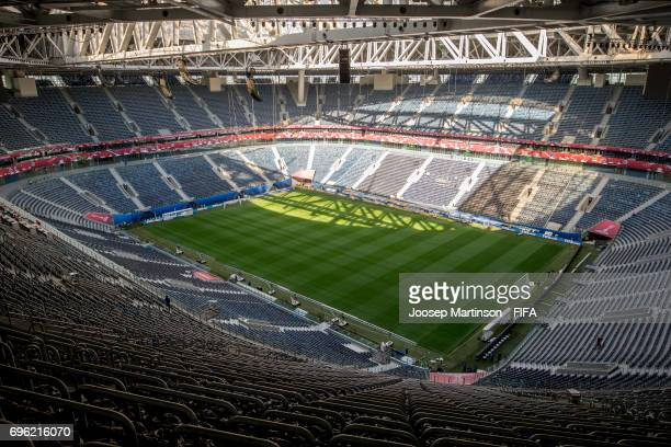 A general view of the Saint Petersburg Stadium on June 14 2017 in St Petersburg Russia