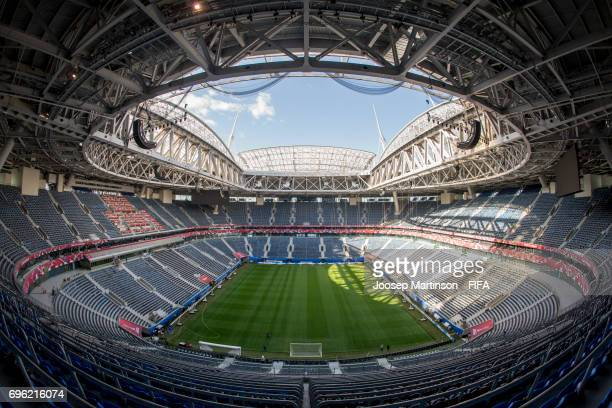 A general view of the Saint Petersburg Stadium on June 14 2017 in St Petersburg Russia