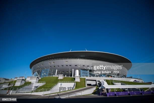 General view of the Saint Petersburg Stadium on June 14 2017 in St Petersburg Russia