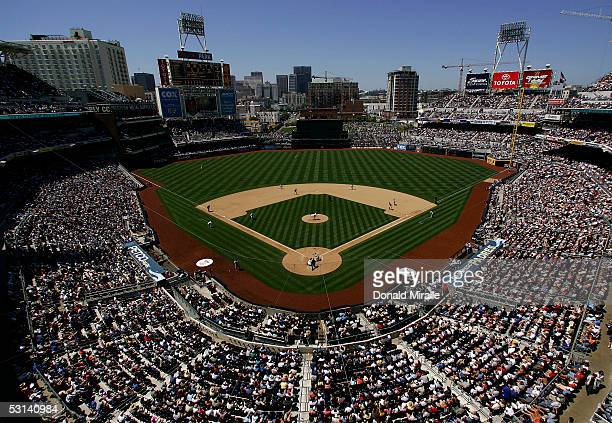 A general view of the San Diego Padres game against the Los Angeles Dodgers during the eighth inning on June 23 2005 at Petco Park in San Diego...