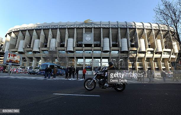 General view of the Santiago Bernabeu stadium ahead of the Copa del Rey Round of 16 First Leg match between Real Madrid and Sevilla on January 4 2017...
