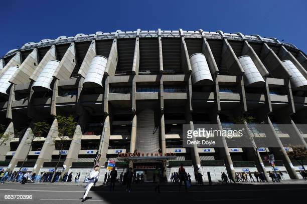 General view of the Santiago Bernabeu stadium ahead of the La Liga match between Real Madrid CF and Deportivo Alaves on April 2 2017 in Madrid Spain