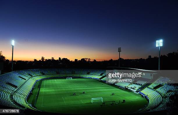 General view of the Sausalito stadium during a training session of the Bolivian national football team ahead of the Copa America 2015 in Vina del Mar...