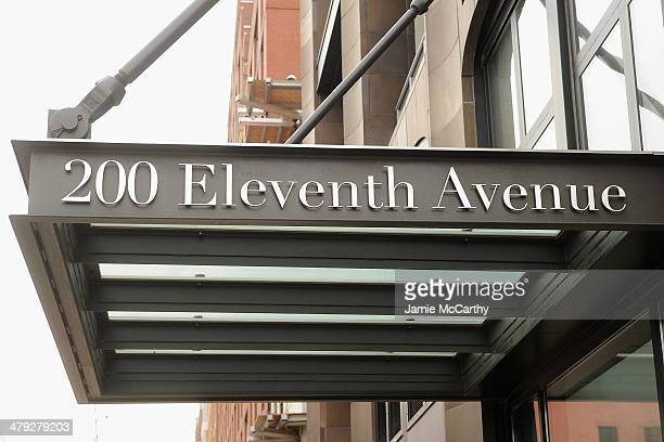 A general view of The scene outside the Chelsea apartment building on March 17 2014 in New York City where fashion designer L'Wren Scott was found...