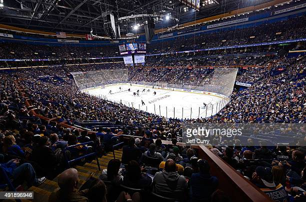 A general view of the Scottrade center during the St Louis Blues home opener against the Edmonton Oilers on October 8 2015 at Scottrade Center in St...