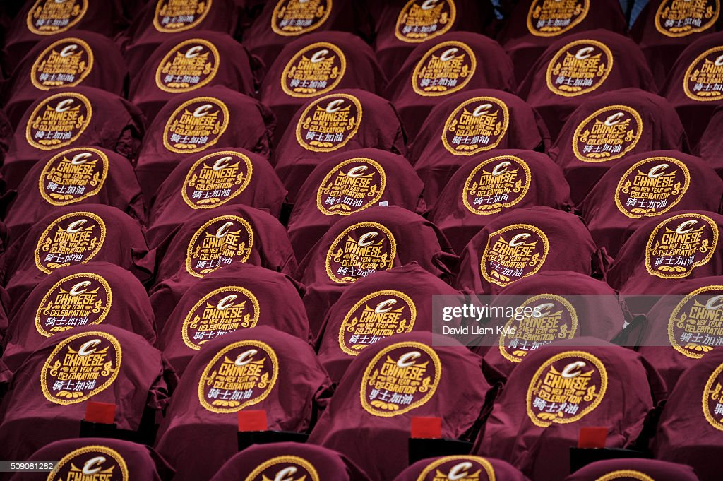 A general view of the seats before the game between the Sacramento Kings and Cleveland Cavaliers on February 8, 2016 at Quicken Loans Arena in Cleveland, Ohio.