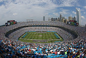A general view of the Seattle Seahawks against the Carolina Panthers during their game at Bank of America Stadium on September 8 2013 in Charlotte...