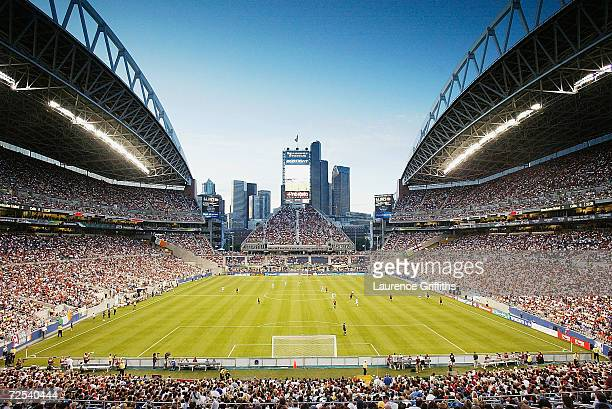 General view of the Seattle Skyline during the Champions World Series game between Manchester United and Celtic on July 22 2003 at Seattle Seahawks...