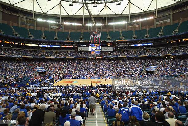 General view of the SEC Men's Basketball Tournament Championship game between the University of Kentucky Wildcats and the University of Florida...