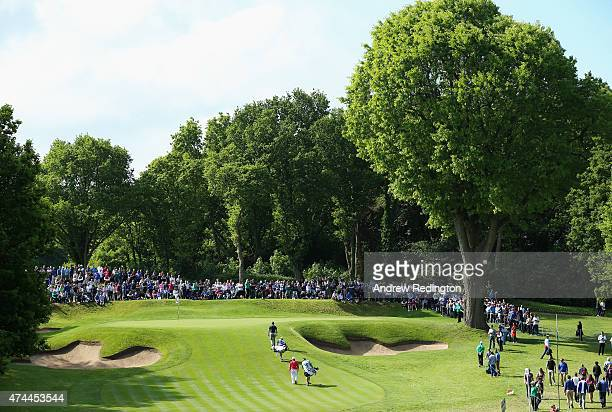 A general view of the second green played by Martin Kaymer of Germany and Andy Sullivan of England during day 3 of the BMW PGA Championship at...