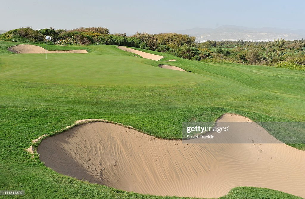 A general view of the second hole during the first round of the Trophee du Hassan II Golf at the Golf du Palais Royal on March 31 2011 in Agadir...