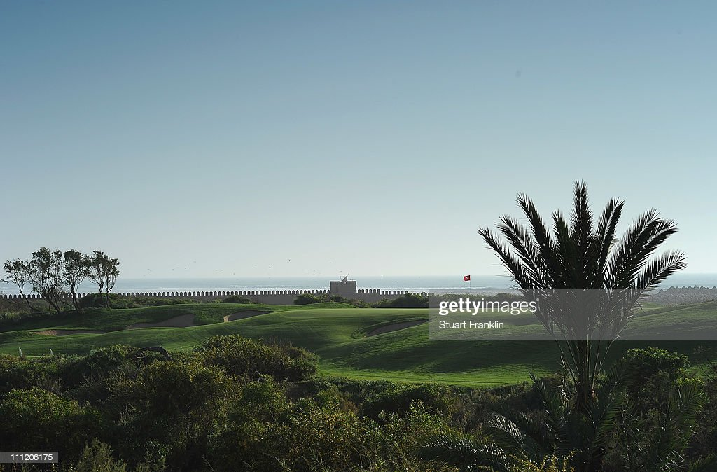 A general view of the second hole prior to the start of the Trophee du Hassan II Golf at the Golf du Palais Royal on March 30 2011 in Agadir Morocco