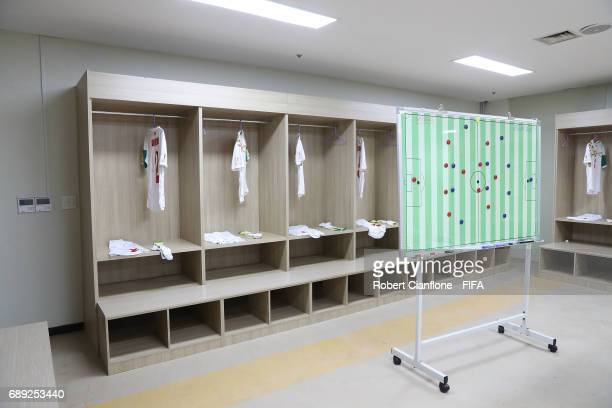 A general view of the senegal dressing room prior to the FIFA U20 World Cup Korea Republic 2017 group F match between Senegal and Ecuador at Jeonju...