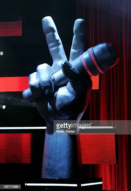 A general view of the set is shown at a press junket for NBC's 'The Voice' at Sony Studios on October 28 2011 in Culver City California