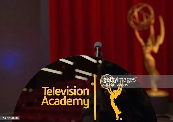 General view of the setting at the 68th Emmy Nominations Announcement at the Academy of Television Arts Sciences in North Hollywood California on...