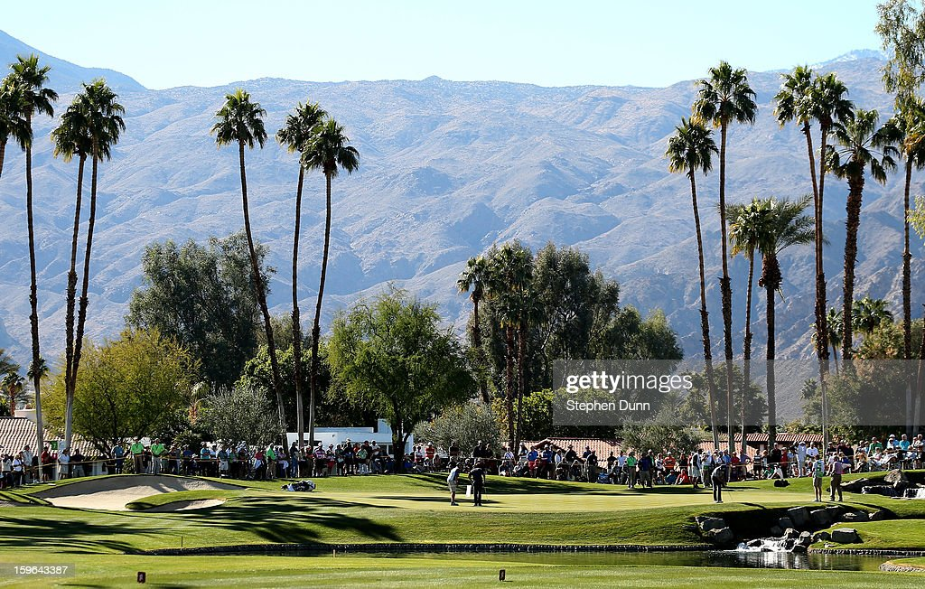 A general view of the seventh green during the first round of the Humana Challenge in partnership with the Clinton Foundation at La Quinta Country Club on January 17, 2013 in La Quinta, California.