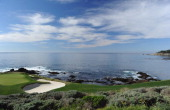 A general view of the seventh hole during the final round of the ATT Pebble Beach National ProAm at Pebble Beach Golf Links on February 13 2011 in...