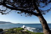 A general view of the seventh hole during the final round of the ATT Pebble Beach National ProAm at Pebble Beach Golf Links on February 10 2013 in...